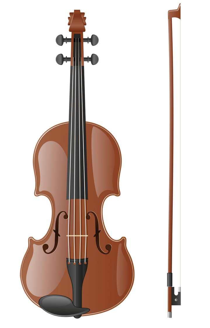 逼真的大提琴音乐乐器免抠矢量图片素材