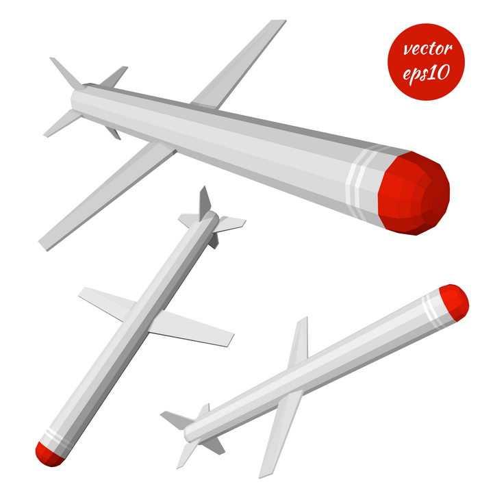红灰色卡通巡航导弹武器图片免抠素材