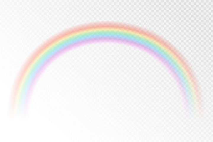 淡淡的半透明彩虹图片免抠素材