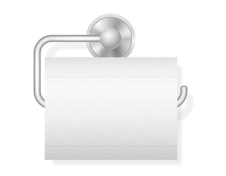 放了卷筒纸卫生纸的卫生间卷纸架图片免抠素材