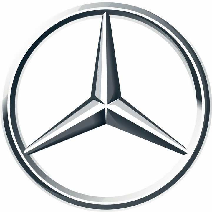 金属色梅赛德斯-奔驰汽车标志大全及名字图片免抠素材