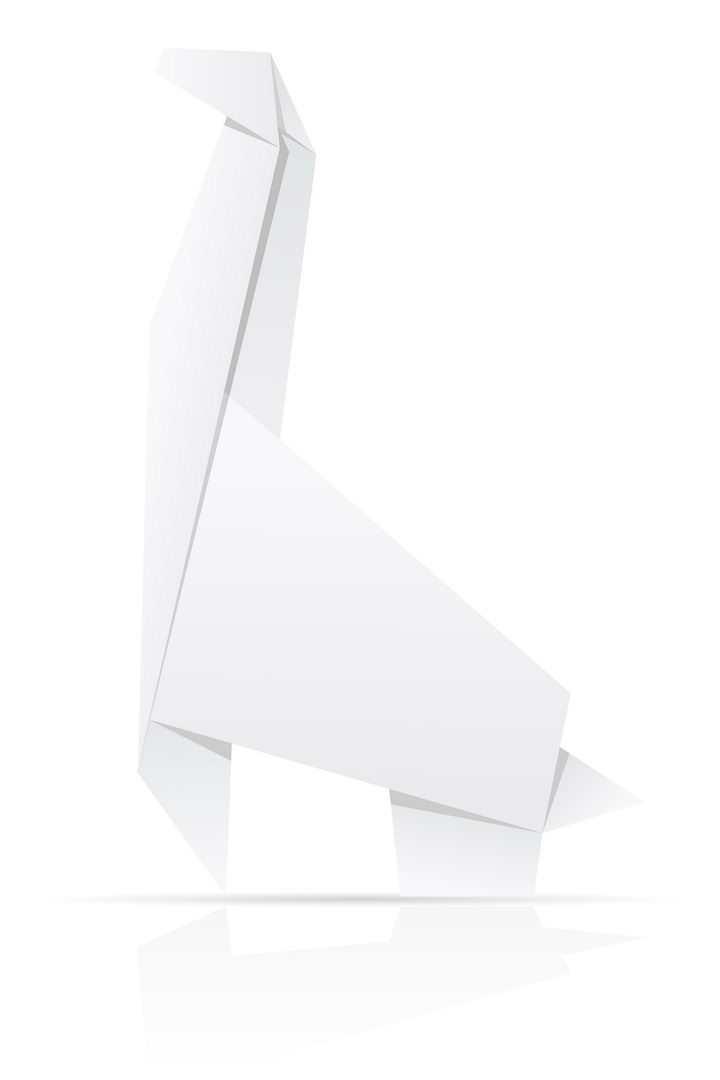 用白纸折叠的长颈鹿折纸玩具童年回忆系列免抠矢量图片素材