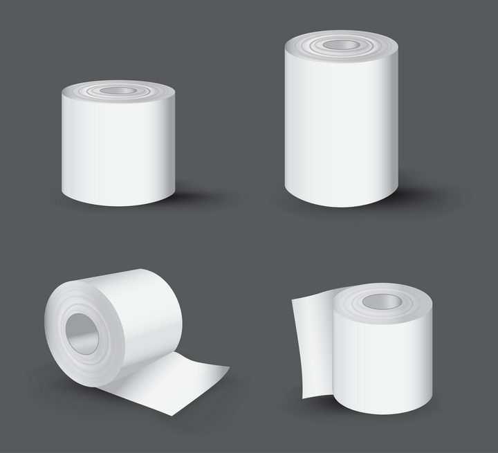 4种卷纸厕纸卫生纸图片免抠素材