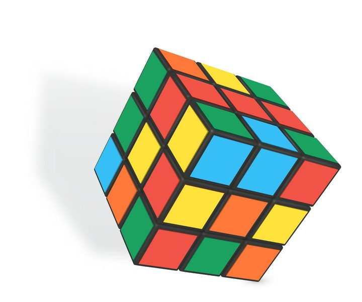 初始状态的立体魔方益智玩具免抠矢量图片素材