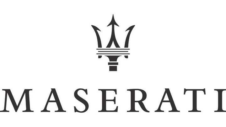 豪华跑车品牌纯色玛莎拉蒂汽车标志大全及名字图片免抠素材