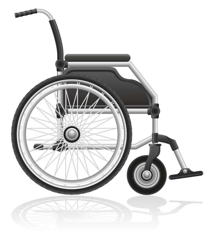 轮椅侧视图免抠矢量图片素材