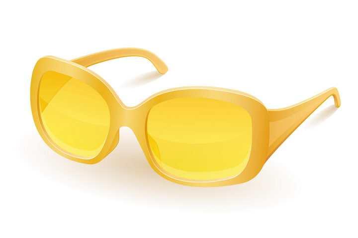 黄色的眼镜遮阳镜免抠矢量图片素材