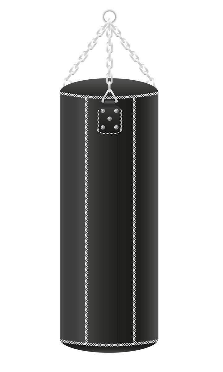 黑色的拳击吊式沙袋免抠矢量图片素材