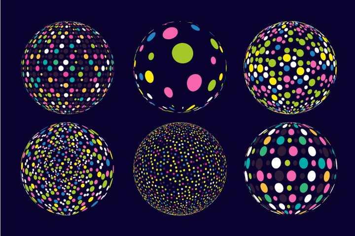 各种颜色的光斑组成的圆球图片免抠矢量图素材