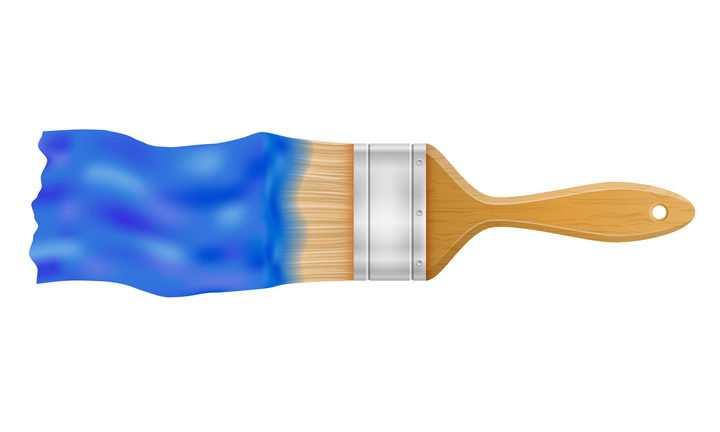 正在刷漆的油漆刷毛刷刷子免抠矢量图片素材