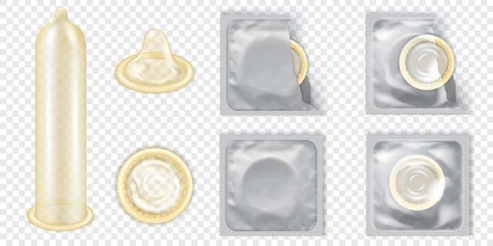 拆开产品品牌包装的避孕套图片免抠素材