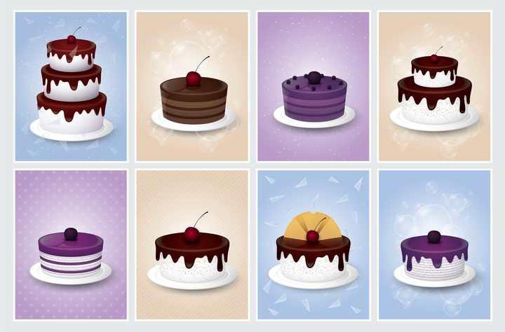 各种逼真的结婚蛋糕生日蛋糕图片免抠素材