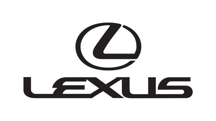 黑色LEXUS雷克萨斯汽车标志大全及名字图片免抠素材