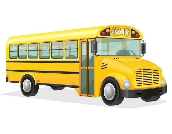 黄色的学生校车汽车免抠矢量图片素材