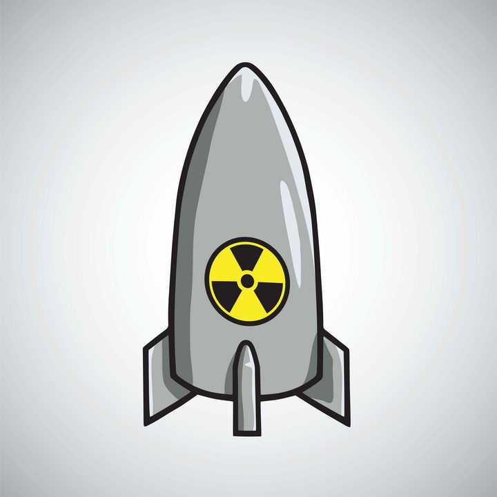 卡通风格原子弹核武器炸弹图片免抠素材