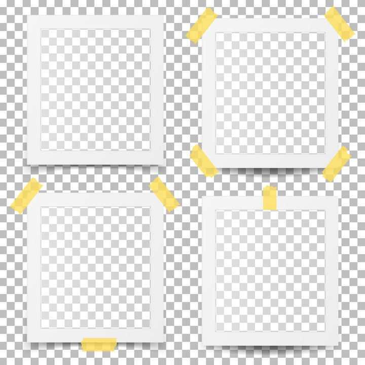 4款胶带贴纸照片相框图片免抠矢量素材