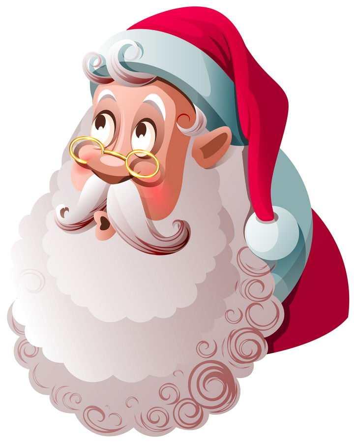 卡通圣诞老人头像图片免抠矢量素材