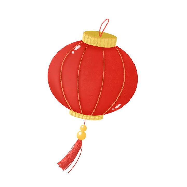 简约的手绘大红灯笼装饰图片免抠png素材 节日素材-第1张