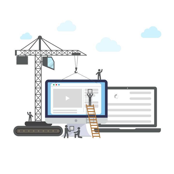 抽象风格吊塔网站建设图片免抠矢量素材 IT科技-第1张
