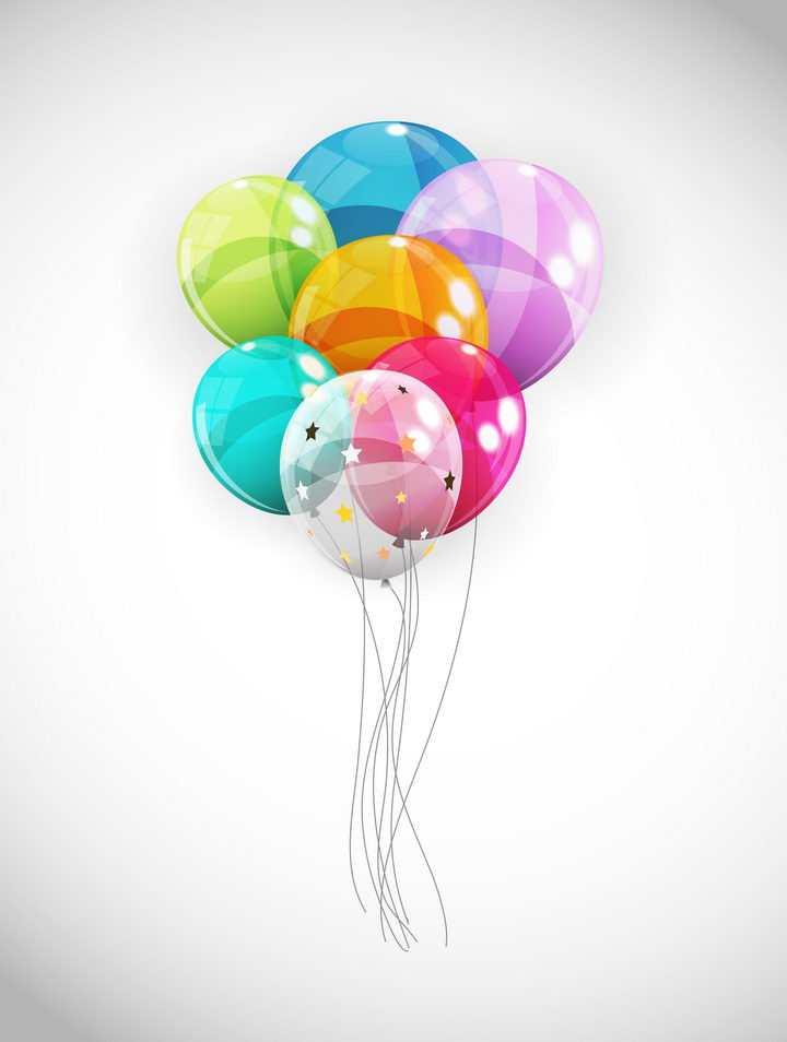 一堆半透明的生日气球装饰图片免抠矢量图素材