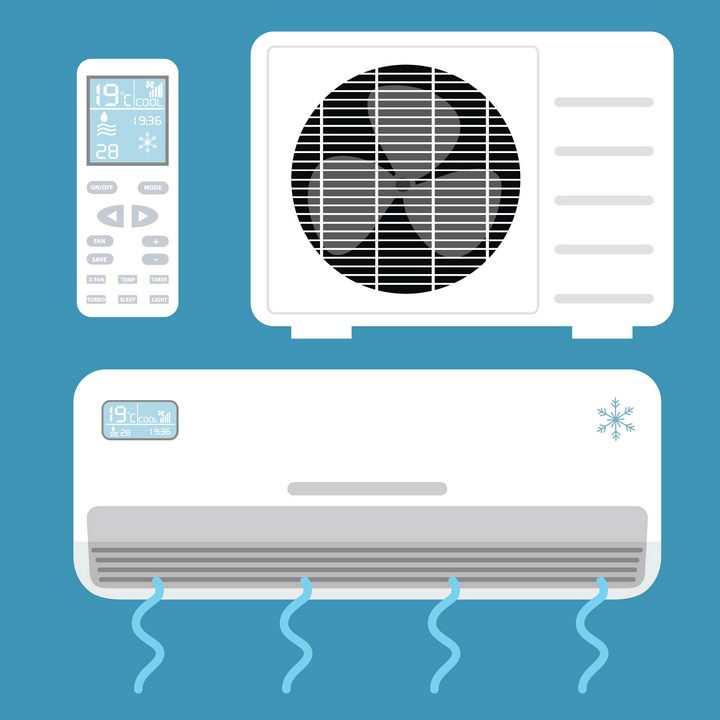 扁平化空调外机空调遥控器家用电器图片免抠矢量素材