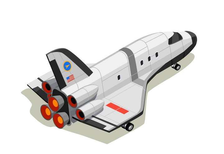 2.5D风格航天飞机图片免抠素材