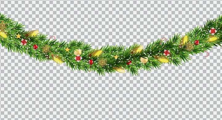 圣诞节松叶装饰图片免抠素材