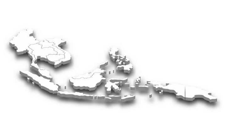 立体东南亚行政地图带阴影图片免抠矢量素材