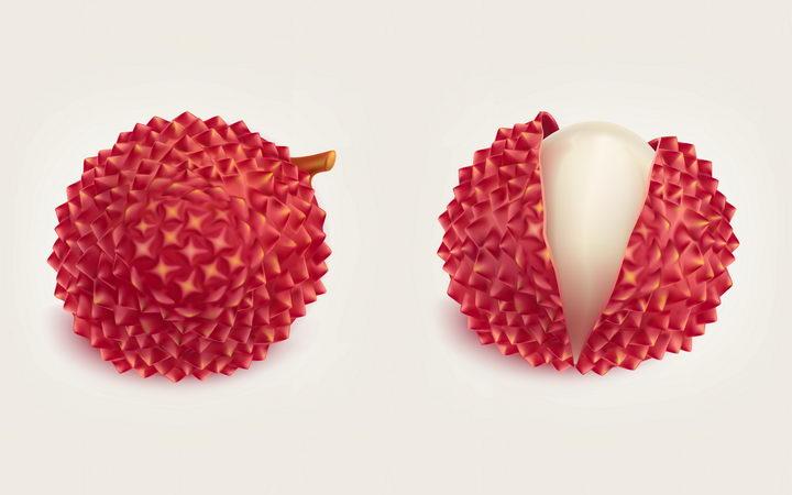 剥开的荔枝美味水果图片免抠素材 生活素材-第1张