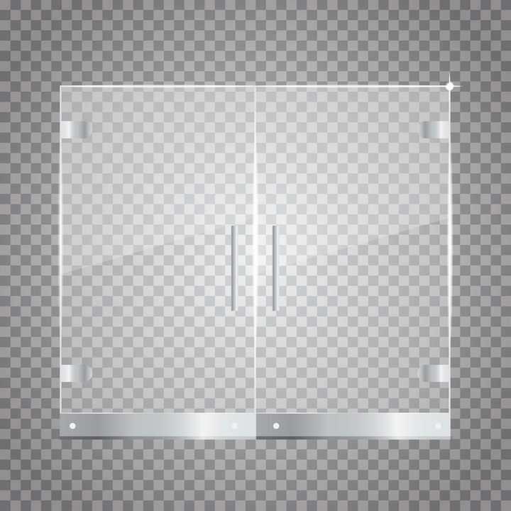 金属底座半透明的玻璃窗户卫生间门图片免抠矢量素材