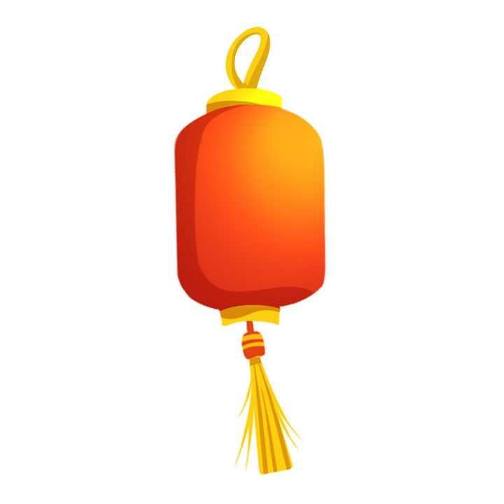 简约风格的红色橙色大红灯笼图片免抠png素材