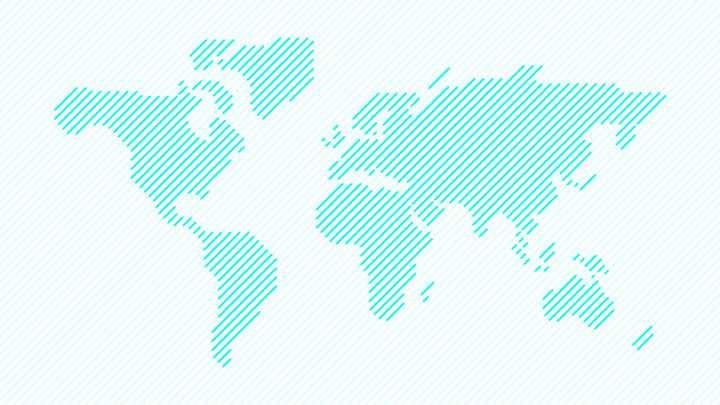 蓝色斜线条组成的世界地图图片免抠矢量素材