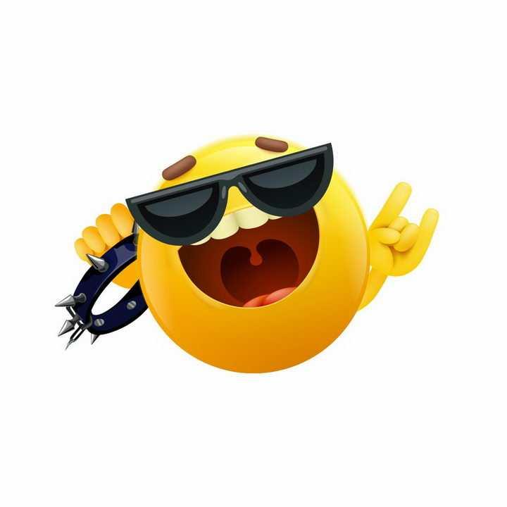 戴着墨镜的可爱卡通太阳图片免抠png素材