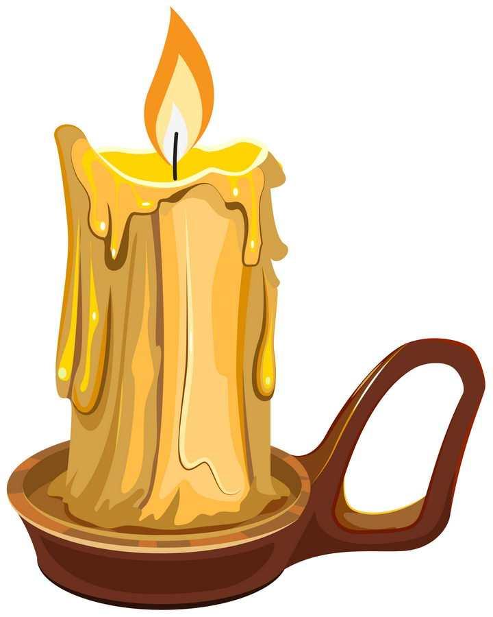 卡通风格燃烧的蜡烛图片免抠矢量素材