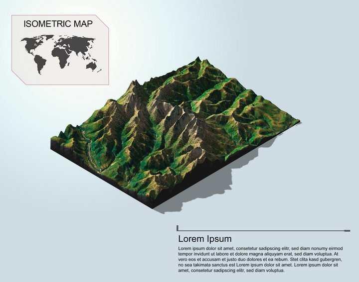 地理地质崇山峻岭高山地形地貌PS 3D模型图片模板