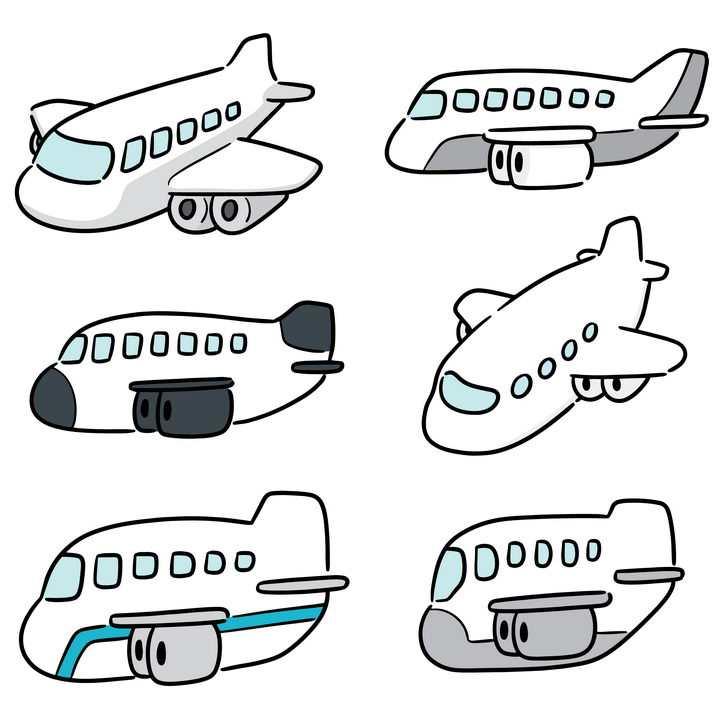 6款超可爱卡通飞机图片免抠素材
