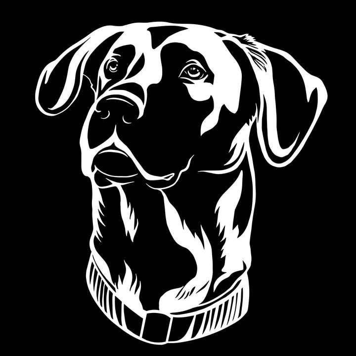 黑白画风格宠物狗狗品种拉布拉多犬图片免抠素材