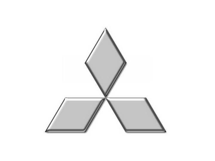银色三菱汽车标志大全及名字图片免抠素材