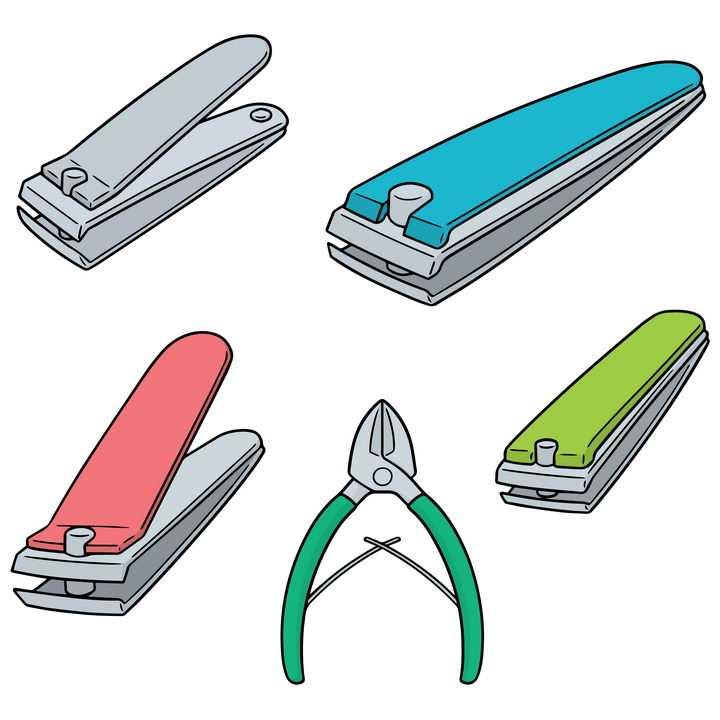 各种指甲钳指甲剪修剪指甲图片免抠矢量素材