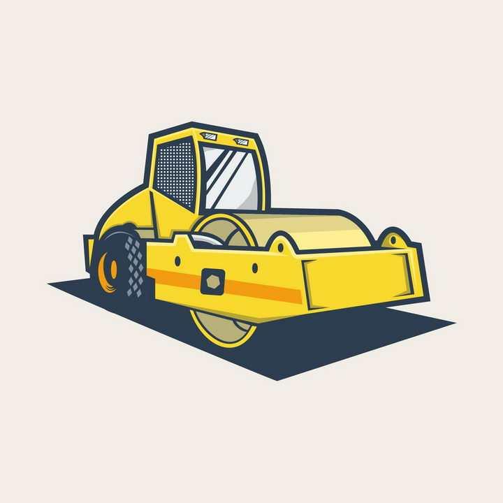 黄色卡通推土机图片免抠矢量素材
