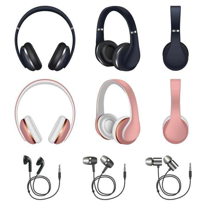 各种逼真的耳机耳麦音乐器材图片免抠素材