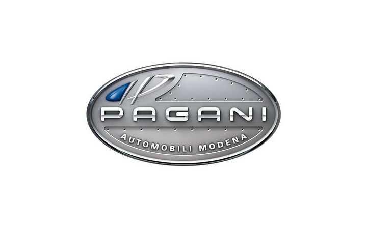豪华跑车品牌银色Pagani帕加尼汽车标志大全及名字图片免抠素材