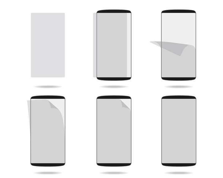 为手机贴膜的流程图示意图图片免抠矢量素材