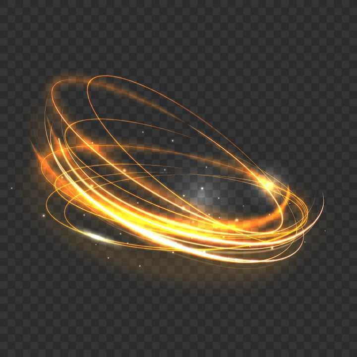 金黄色动感光线旋转光圈效果图片免抠矢量图素材