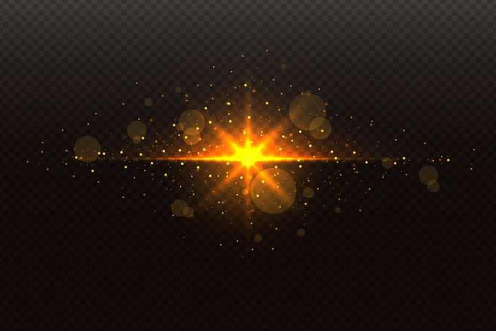 金色星光太阳光光斑效果图片免抠矢量图素材