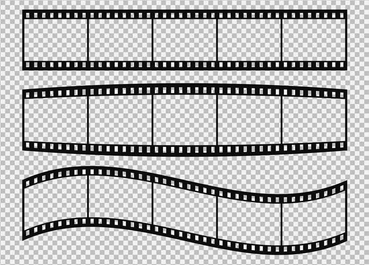 3款电影胶片相框边框图片免抠矢量素材