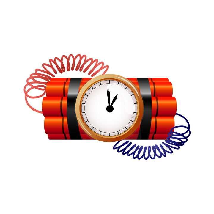 带闹钟倒计时的定时炸弹图片免抠素材