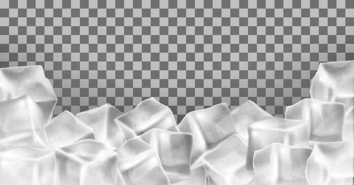 堆放在一起的冰块立方体图片免抠矢量素材