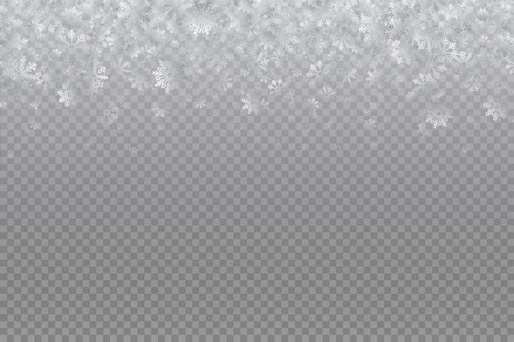 飘落的半透明雪花装饰图案图片免抠矢量素材