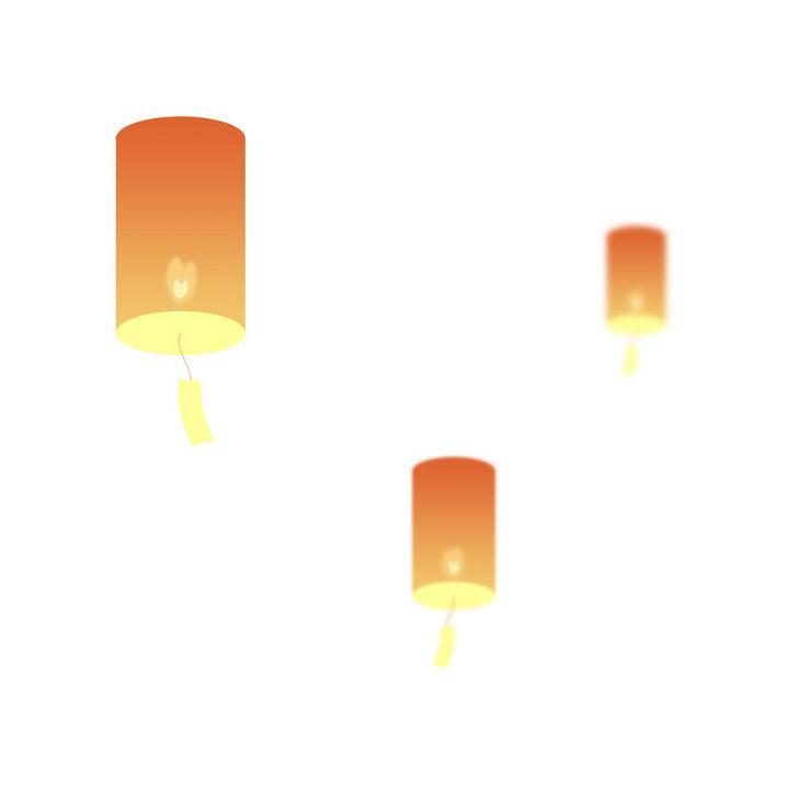 简约圆柱形祈福孔明灯图片免抠png素材